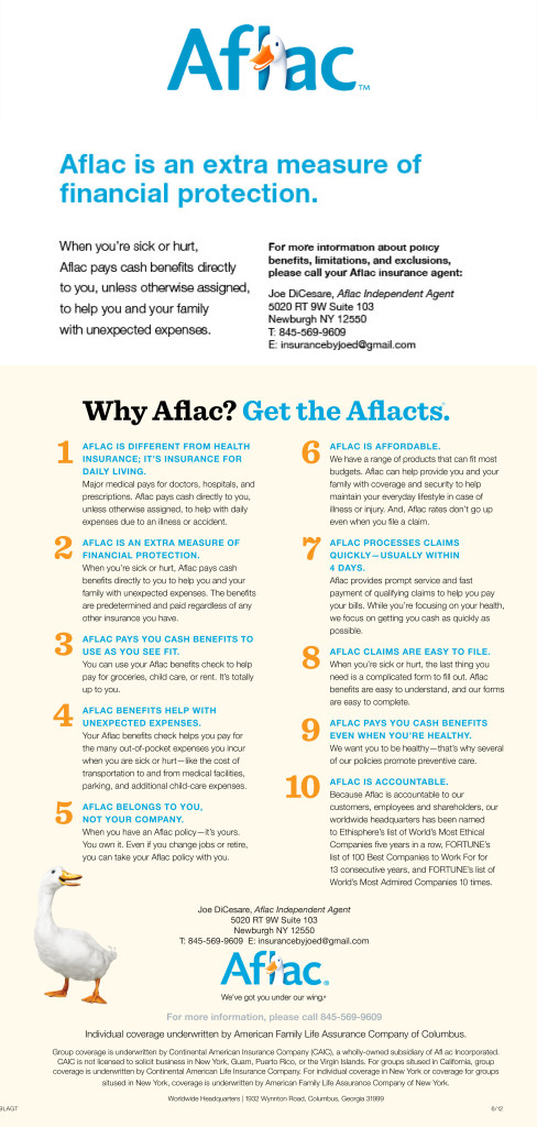 Aflac Insurance  Joe Dicesare Insurance Agency Inc