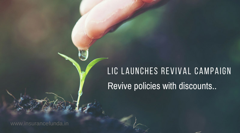 LIC launches revival campaign revive your policies with disxcounts