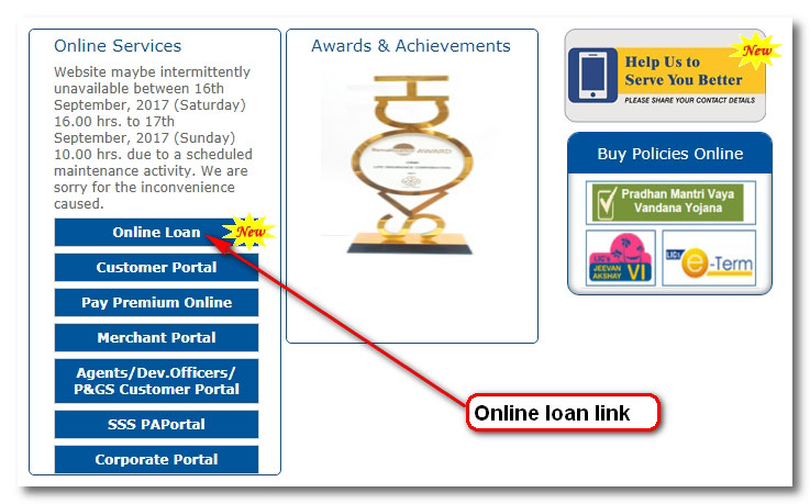 Take online loan and repay loan and interest online for LIC policies