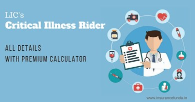 LIC Critical Illness benefit Rider all details with premium calculators