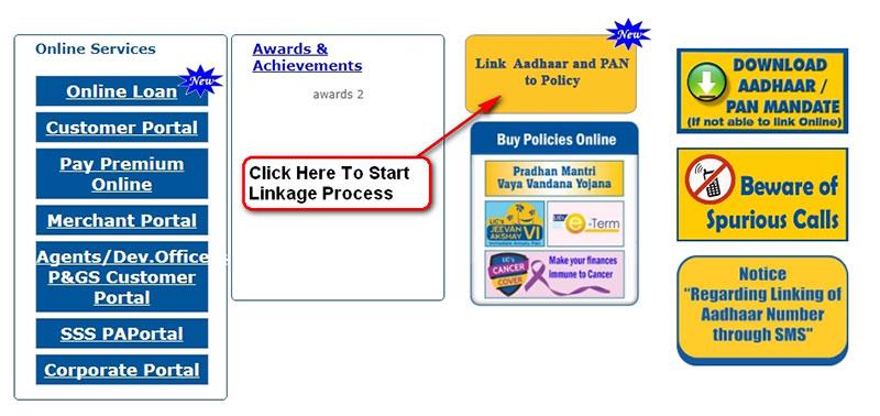 Link Aadhaar and PAN to LIC policies
