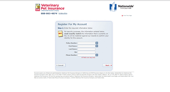 Nationwide Pet Insurance Claim Form