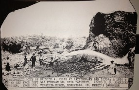 Placer County Museum of Mining photo of hydraulic mining at Rattlesnake Bar