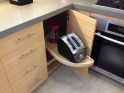 Corner swivel appliance shelves are better than I thought.