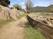 NFD path, along old concrete ditch wall.