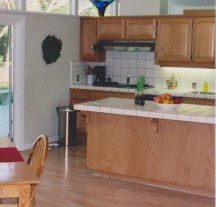 Original kitchen with wasted space for a modern family.