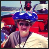 Inflatable Hydroplane hats to stay cool lakeside.