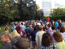 Marriage equality supporters march from the Capitol to L Street.