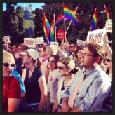 We Are family. Marriage Equality Rally Sacramento, California