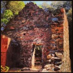 Many early Cherokee buildings were built with stone walls and foundation.