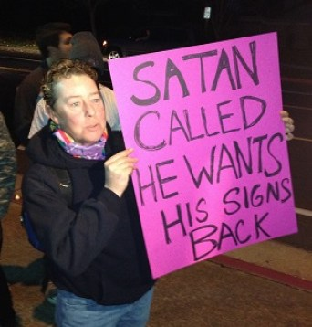 Satan called, he wants his signs back