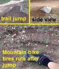 Mountain bike jumps at Folsom Lake Park, Granite Bay