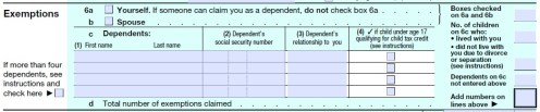 1040_exemptions Filing Form Example on sample completed, poverty line table, example filled out irs, line 2b, modified agi,