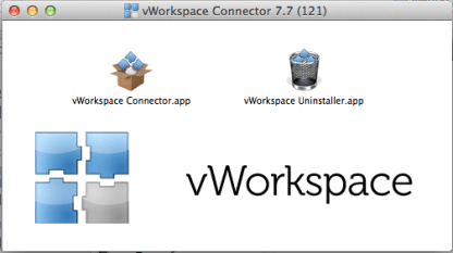 mac-6 vWorkspace Connector image for Virtual Desktop access on a Mac