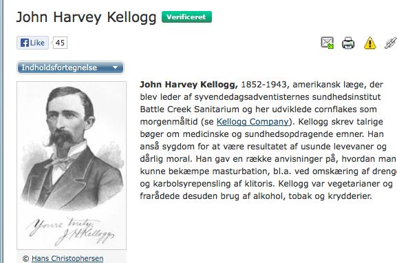 John Harvey Kellogg (1852-1943) Billede fra Den store danske encyklopædi