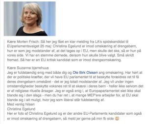 Christina Egelund, Liberal Alliance