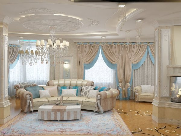 Оригинальные шторы для гостиной в современном стиле фото