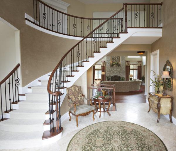 Гостиная с лестницей на второй этаж Всё о лестницах