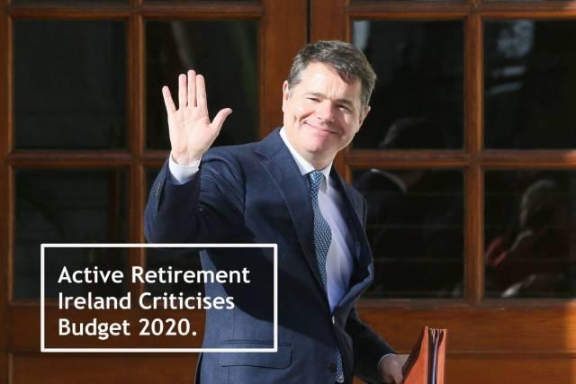 Active Retirement Ireland Criticises Budget 2020