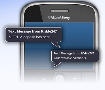 text messages on a smart phone