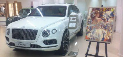 Выставка-продажа живописных полотен в автосалоне Bentley, Москва