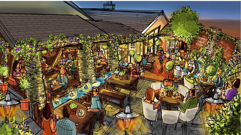 Beer garden design concepts