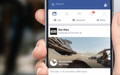 Facebook introduce vídeos de 360 grados