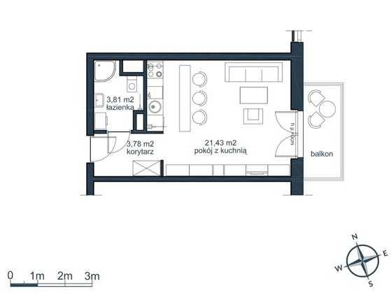mieszkanie 1 pokojowe słoneczna zatoka gdynia witomino (4)