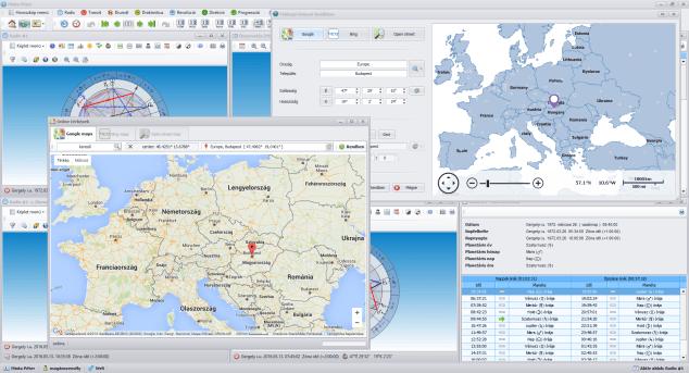 AstroSky földrajzi koordináták megadása