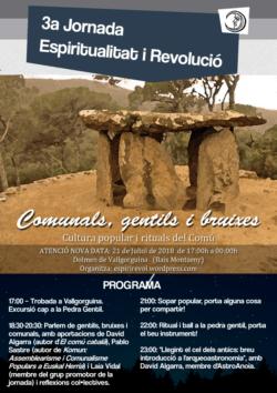 """3a jornada """"Espiritualitat i revolució"""": Comunals, gentils i bruixes"""