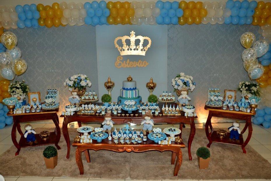 Festa de Príncipe - mesa de decoração completa