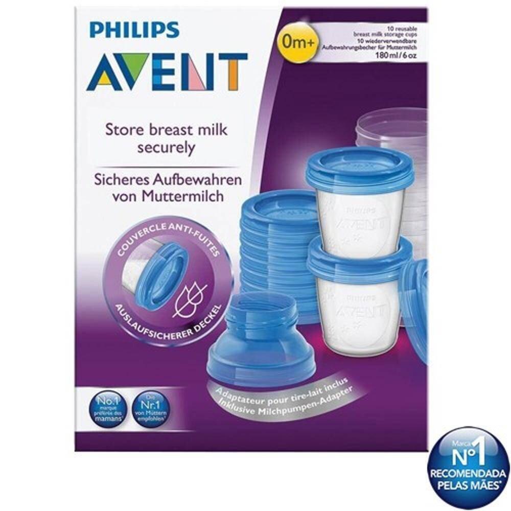 Utensílios na alimentação do bebê – kit potes – copos para armazenamento AVENT