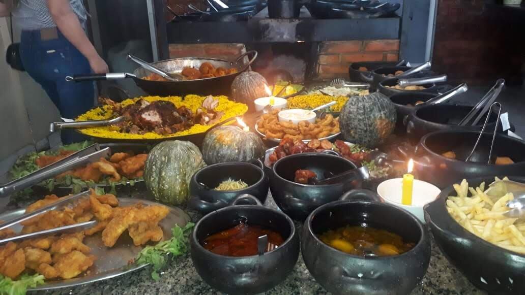 Nosso almoço no Rio Quente Resorts