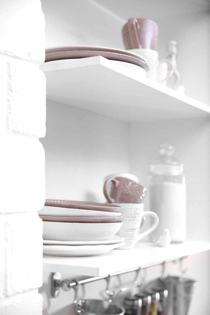 decoração de cozinha com prateleiras 3
