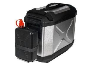 H&B Recipiente de reserva incluido el soporte para la caja de aluminio