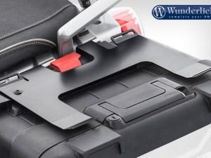 Soporte de equipaje Wunderlich sobre maleta original de la R 1200 GS