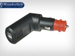 Conector de carga con doble USB y modificación de ángulo