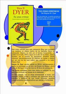 Cartel con recomendación del libro de Wayne W. dyer