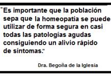 Frase sobre homeopatía