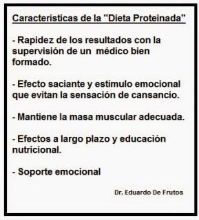 """Características de la """"Dieta Proteinada"""""""