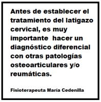 Antes de establecer el tratamiento  del latigazo cervical, es muy importante hacer un diagnóstico diferencial con otras patologías osteoarticulares y/o reumáticas.