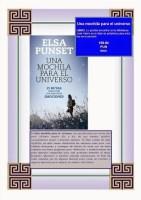"""Imagen del libro de Elsa Punset """"Una mochila para el universo: 21 rutas para vivir con nuestras emociones"""""""