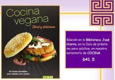 Portada del libro Cocina vegana. Fácil y deliciosa