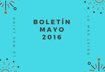 Boletín Mayo 2016