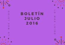 Boletín Julio 2016