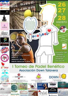 Cartel 1er torneo pádel benéfico Down Talavera