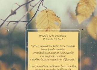 Oración de la serenidad citada por Pilar Martín