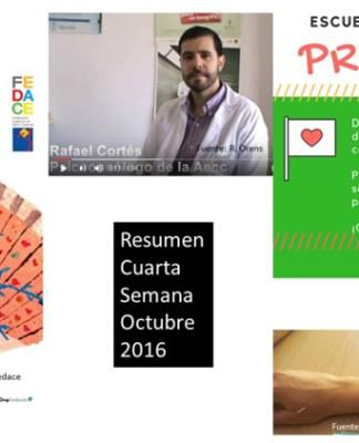 Resumen Cuarta Semana Octubre 2016