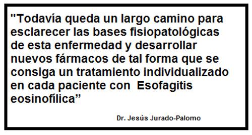 Frase sobre la Investigación de la Esofagitis eosinofílica