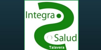 """Texto """"Te damos la Bienvenida a"""" con logo de Integra Salud Talavera"""